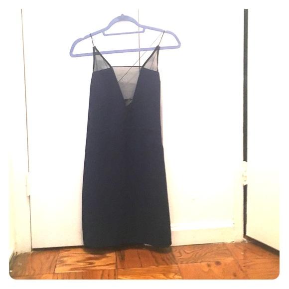 revolve Dresses & Skirts - Navy mesh slip dress- aqaq