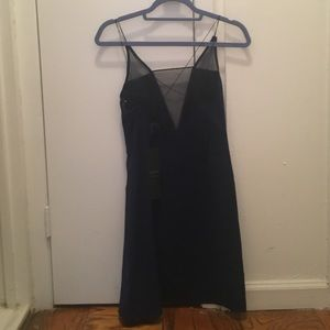 revolve Dresses - Navy mesh slip dress- aqaq