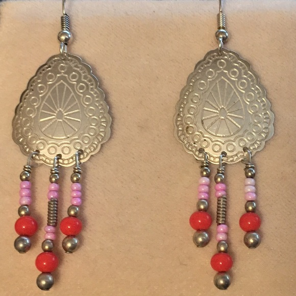 Sterling silver southwest design with red coral