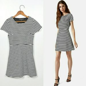 Topshop Dresses & Skirts - Topshop Dress | Black + White Stripe Dress