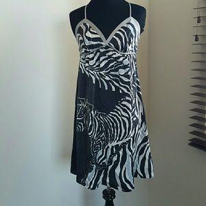 Voom by Joy Han Dresses & Skirts - 5 for $18 VOOM ZEBRA SILK DRESS XS