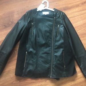 Momo Maternity Jackets & Blazers - MOMO maternity leather jacket