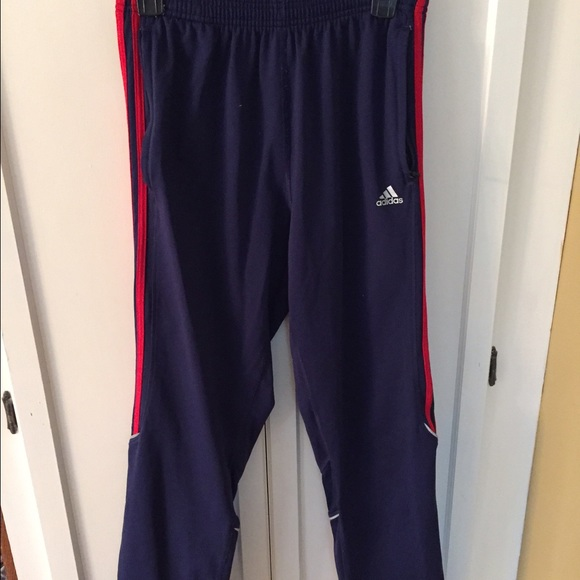 Adidas pantalones azul marino con poshmark una franja roja caliente poshmark con a9efef