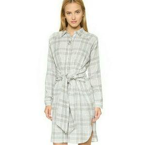 JOA PLAID SHIRT DRESS