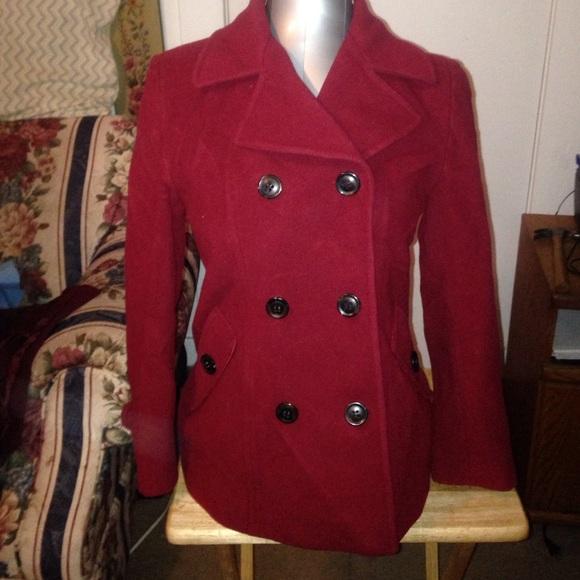 Jones New York - Dark red pea coat from Jenna's closet on Poshmark