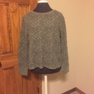 Thermal Green Patterned Top
