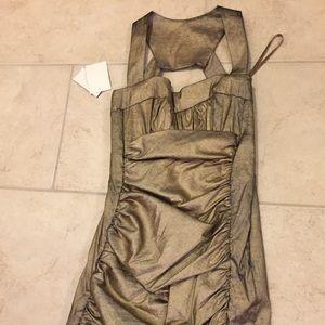 Cache Cocktail Dress | Metallic Gold/Black - NWT!!