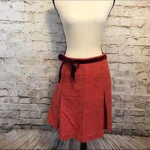 J. Crew Dresses & Skirts - J. Crew Skirt Vintage Pleated Light Red Wool Skirt