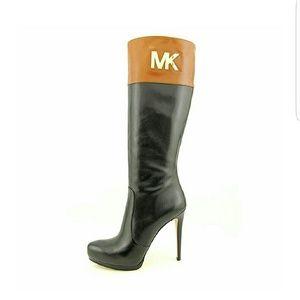 MK Hayley Black Knee High Boot