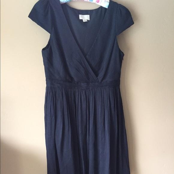 J. Crew - J. Crew Navy Blue Silk Dress from Jean&-39-s closet on Poshmark