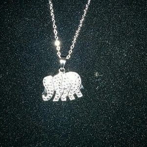 Jewelry - Diamond accent elephant necklace