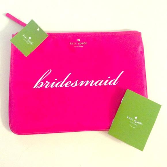 Kate Spade Bags Bridesmaid Pink Makeup Bag Pouch Poshmark