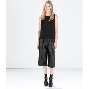 ❤SALE ZARA Faux Leather Culottes Size:XS NWOT