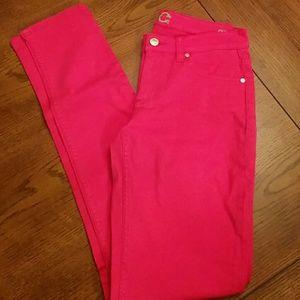 C. Wonder Denim - C Wonder hot pink skinny jeans