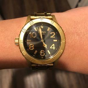 Black & Gold Nixon Women's Watch