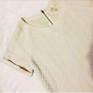 kohls Tops - WhiteShort Sleeved Structured Top