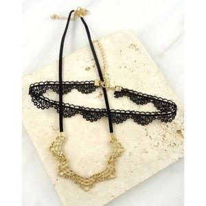 Jewelry - 🎉NWT MOON & BLACK LACE CHOKER NECKLACE