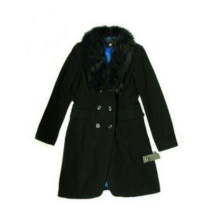 Mossimo Black Jackets & Blazers - Mossimo Women's Faux Fur Topcoat Black M