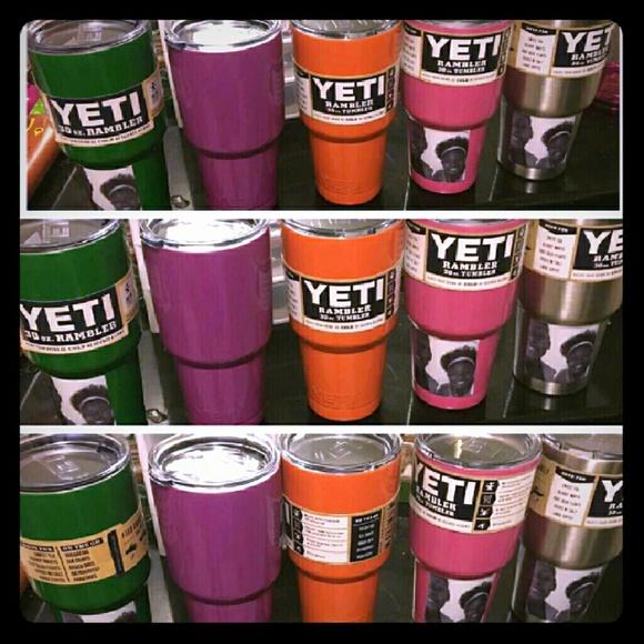 30oz Yeti Cup Purple Silver Pink Orange Green NWT