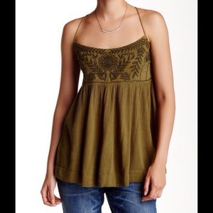 FREE PEOPLE BLACKBIRD TOP IN OLIVE