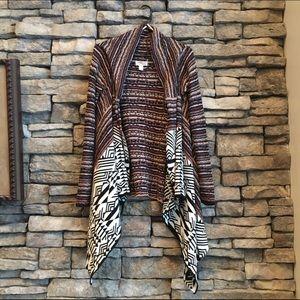 Boho knit waterfall cardigan
