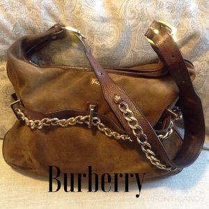 Burberry Handbags - Vintage Burberry Brown w/ Golden Chain Bag
