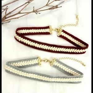 Jewelry - NWT FAUX SUEDE BRAIDED CHOKER NECKLACE