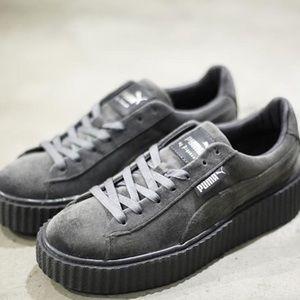 puma fenty shoes grey
