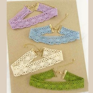 Jewelry - NWT SOFT CROCHET LACE THICK CHOKER NECKLACE