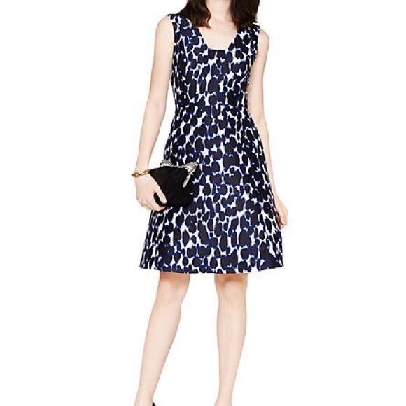 8a9693817d4 kate spade Dresses   Skirts - Kate Spade Animal Print Fit Flare Dress w  Pockets