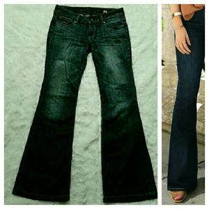 Express Denim - {Express} Flare Dark-Wash Jeans