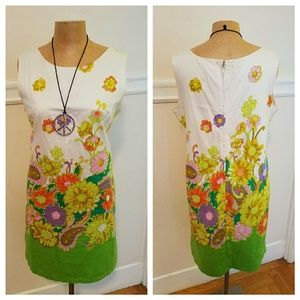 Adorable vintage 60s floral cotton dress