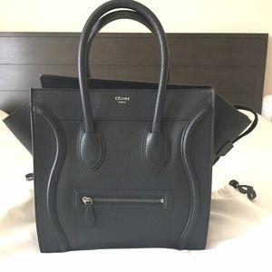 Celine Mini Luggage Tote - Black
