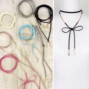 Jewelry - 1HR SALE NWT LEAF BEAD CHOKER WRAP NECKLACE