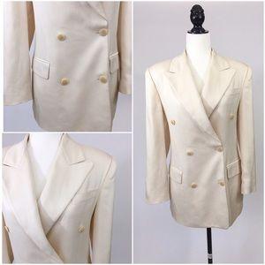 MICHAEL KORS Vintage Silk Ivory Blazer