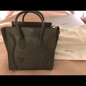 Celine Handbags - AUTHENTIC Celine Mini Luggage Smooth Calfskin Bag