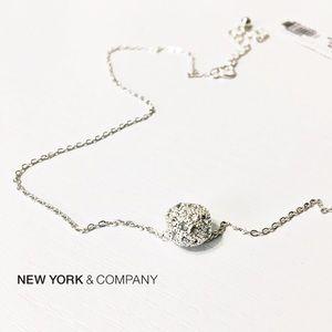 New York & Company Jewelry - NWT NY&Co Pave Ball Dainty Necklace