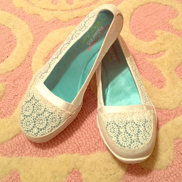Relaxed Fit White Lace Flats   Poshmark