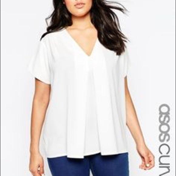 949a6c6b26649a ASOS Curve Tops - Asos Origami Short Sleeve Blouse