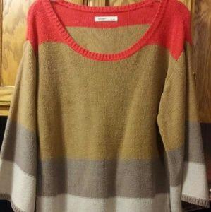 Women's Old Navy Brown/Orange Sweater- Size L