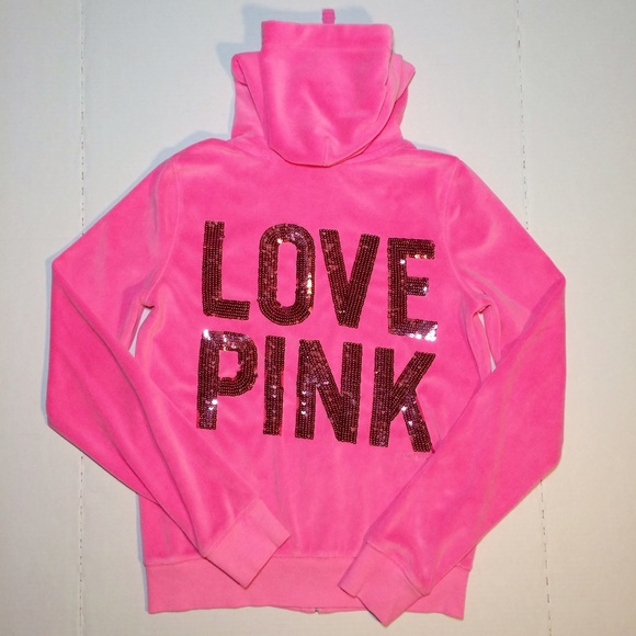 69% off PINK Victoria's Secret Sweaters - Sold Pink VS Love Pink L ...