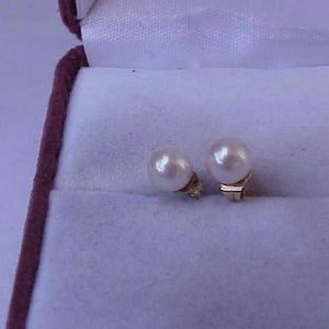 Other - 14k yellow  gold freshwater pearls earrings