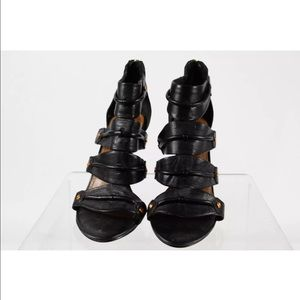 Dolce vita black leather heels size 7