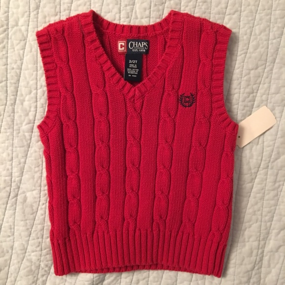 73% off Chaps Other - {Chaps} Toddler Red Sweater Vest from ...
