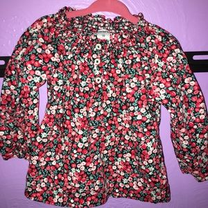 Carter's Other - Carters baby girl/toddler floral blouse size18 mos