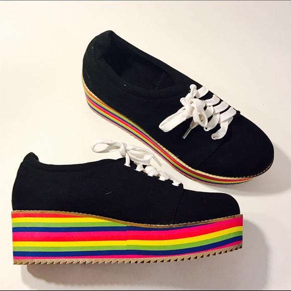 Rainbow Platform Sneakers. M 584df8633c6f9f4c6001419f
