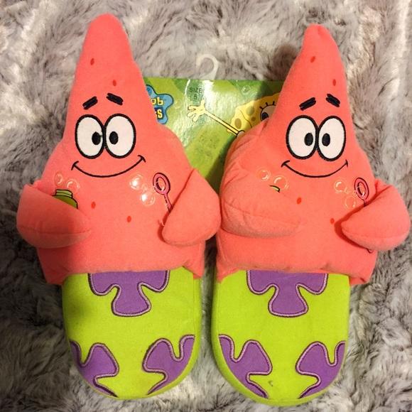 Nickelodeon Shoes Spongebob Squarepants Patrick Star Plush