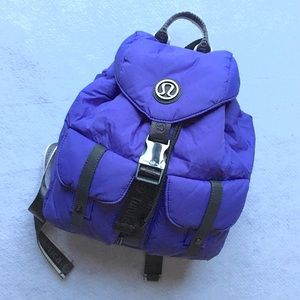 Lululemon Drawstring Backpack Purple & Gunmetal