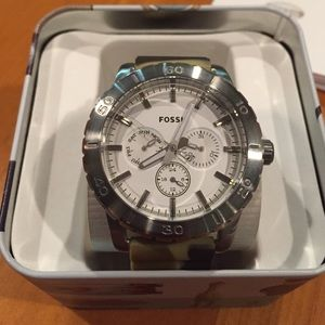 Fossil Other - Fossil Men's Silicone White Dial Watch / New
