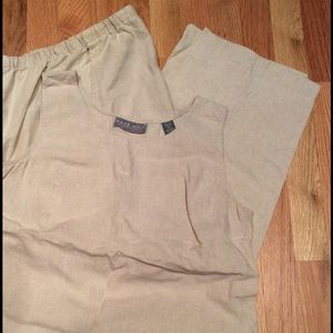 Kate Hill Tops - Matching tan linen pant (M) and tank (L)!
